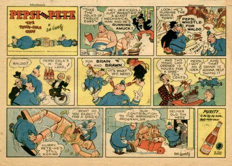 """un esempio della serie (pubblicitaria) di Rube Goldberg """"Pepsi and Pete"""""""